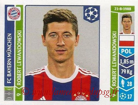 2014-15 - Panini Champions League N° 355 - Robert LEWANDOWSKI (FC Bayern Munich)