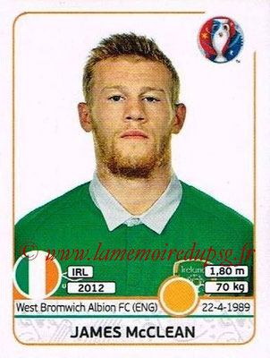 Panini Euro 2016 Stickers - N° 528 - James McCLEAN (République d'Irlande)