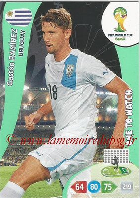 2014 - Panini FIFA World Cup Brazil Adrenalyn XL - N° 315 - Gaston RAMIREZ (Uruguay) (One to watch)
