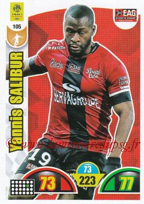 2018-19 - Panini Adrenalyn XL Ligue 1 - N° 105 - Yannis SALIBUR (Guingamp)