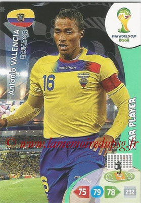 2014 - Panini FIFA World Cup Brazil Adrenalyn XL - N° 122- Antonio VALENCIA (Equateur) (Star Player)
