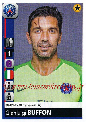 2018-19 - Panini Ligue 1 Stickers - N° 353 - Gianluigi BUFFON (Paris Saint-Germain)