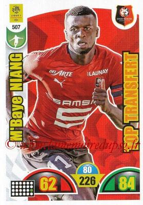 2018-19 - Panini Adrenalyn XL Ligue 1 - N° 507 - M'Baye NIANG (Rennes) (Top Transfert)
