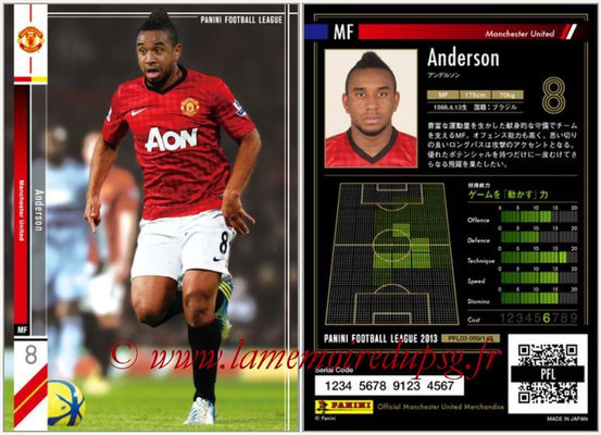Panini Football League 2013 - PFL03 - N° 059 - Anderson (Manchester United)