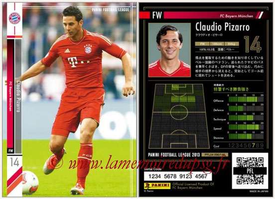 Panini Football League 2013 - PFL04 - N° 096 - Claudio PIZARRO (Bayern Munich)