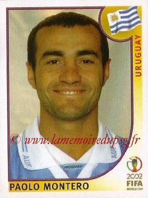2002 - Panini FIFA World Cup Stickers - N° 065 - Paolo MONTERO (Uruguay)