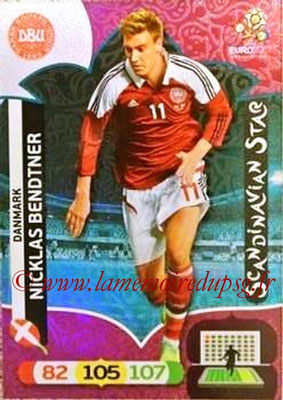 Panini Euro 2012 Cards Adrenalyn XL - N° 309 - Nicklas BENDTNER (Danemark) (Scandinavian Star) (Nordic Edition)