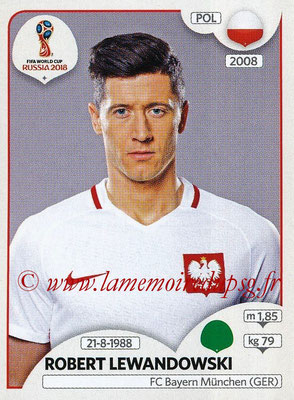 2018 - Panini FIFA World Cup Russia Stickers - N° 609 - Robert LEWANDOWSKI (Pologne)