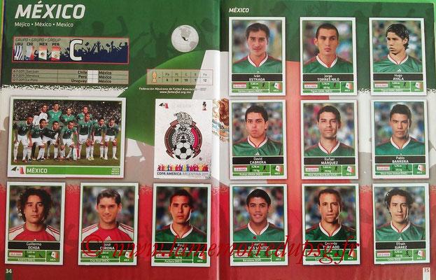 Panini Copa América Argentina 2011 - Pages 34 et 35 - Mexique