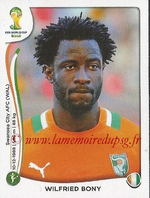 2014 - Panini FIFA World Cup Brazil Stickers - N° 238 - Wilfried BONY (Côte d'Ivoire)