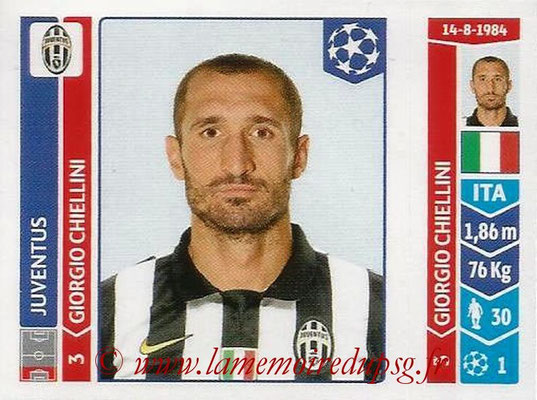 2014-15 - Panini Champions League N° 058 - Giorgio CHIELLINI (Juventus Turin)