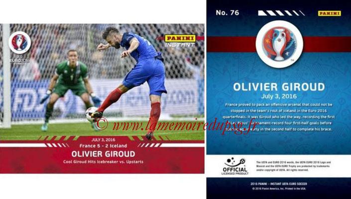Panini Instant Euro 2016 - N° 076 - Olivier GIROUD