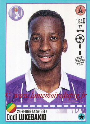 2016-17 - Panini Ligue 1 Stickers - N° T50 - Dodi LUKEBAKIO (Rennes) (Set Transfert)
