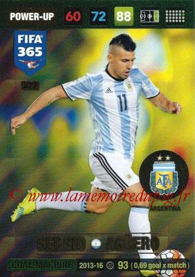 2016-17 - Panini Adrenalyn XL FIFA 365 - N° 377 - Sergio AGUERO (Argentine) (Goal Machine)