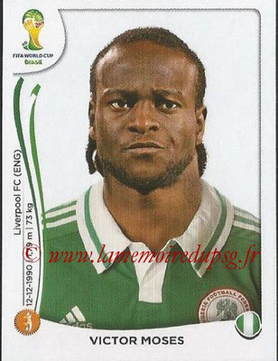 2014 - Panini FIFA World Cup Brazil Stickers - N° 482 - Victor MOSES (Nigéria)