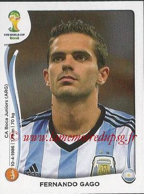 2014 - Panini FIFA World Cup Brazil Stickers - N° 422 - Fernando GAGO (Argentine)