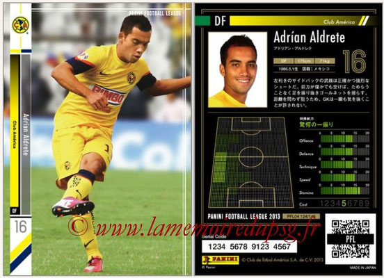 Panini Football League 2013 - PFL04 - N° 124 - Adrian ALDRETE (Club América)