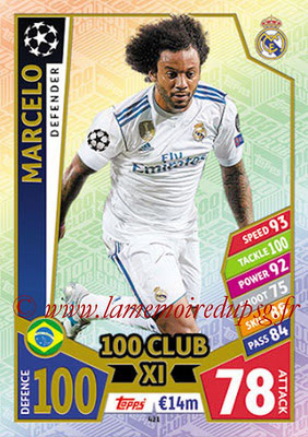 2017-18 - Topps UEFA Champions League Match Attax - N° 421 - MARCELO (Real Madrid CF) (UCL Club XI)