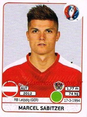 Panini Euro 2016 Stickers - N° 647 - Marcel SABITZER (Autriche)