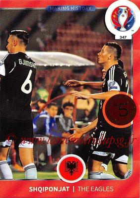 Panini Euro 2016 Cards - N° 347 - Making History de Albanie