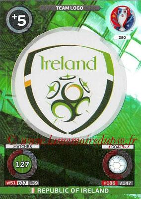 Panini Euro 2016 Cards - N° 280 - Logo de République d Irlande (Team Logo)