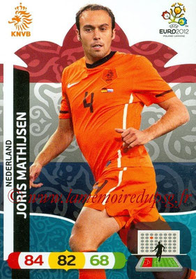 Panini Euro 2012 Cards Adrenalyn XL - N° 136 - Joris MATHIJSEN (Pays-Bas)