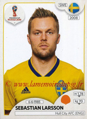 2018 - Panini FIFA World Cup Russia Stickers - N° 482 - Sebastian LARSSON (Suede)