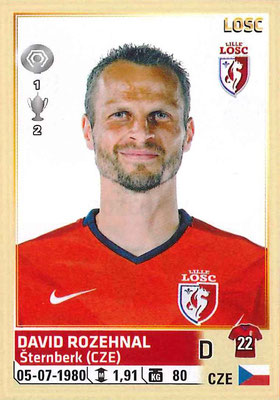 2014-15 - Panini Ligue 1 Stickers - N° 153 - David ROZEHNAL (Lille OSC)