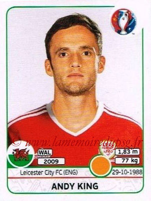 Panini Euro 2016 Stickers - N° 191 - Andy KING (Pays de Galles)