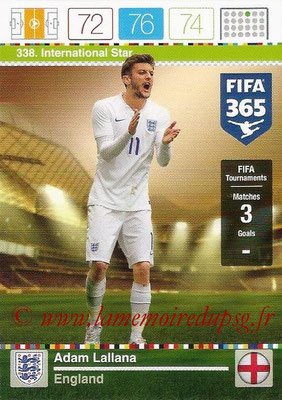2015-16 - Panini Adrenalyn XL FIFA 365 - N° 338 - Adam LALLANA (Angleterre) (International Star)