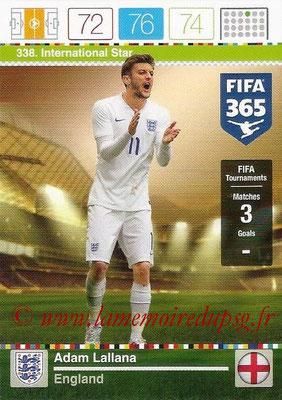 2015-16 - Panini Adrenalyn XL FIFA 365 - N° 338 - Adam LALLANA (Angleterre) (International Star)