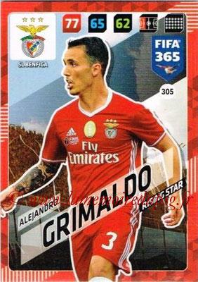 2017-18 - Panini FIFA 365 Cards - N° 305 - Alejandro GRIMALDO (SL Benfica) (Rising Star)