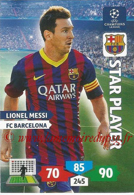 2013-14 - Adrenalyn XL champions League N° 072 - Lionel MESSI (FC Barcelone) (Star Player)