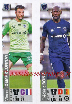 2018-19 - Panini Ligue 1 Stickers - N° 551 - Vincent DEMARCONNAY + Frédéric BONG (Paris FC)