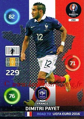 Panini Road to Euro 2016 Cards - N° 250 - Dimitri PAYET (France) (One to Watch)