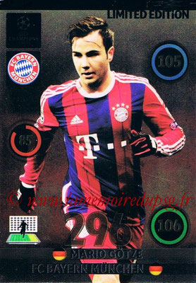 2014-15 - Adrenalyn XL champions League Update edition N° LEU-MG - Mario GOTZE (Bayern Munich) (Limited Edition)