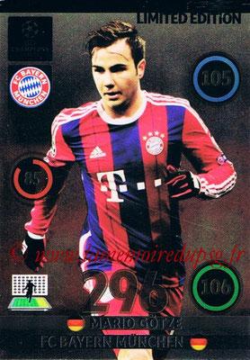 2014-15 - Adrenalyn XL champions League Update edition N° LEU-MG - Mario GOTZE (Bayern Munich) (Limited Edition)