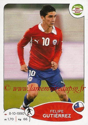 2014 - Panini Road to FIFA World Cup Brazil Stickers - N° 165 - Felipe GUTIERREZ (Chili)