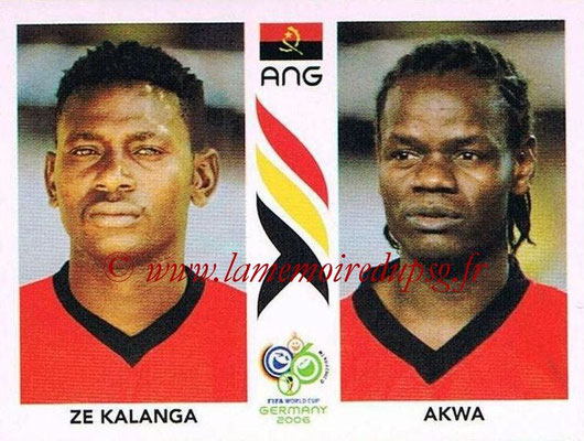 2006 - Panini FIFA World Cup Germany Stickers - N° 308 - Ze KALANGA + AKWA (Angola)