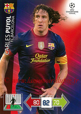 2012-13 - Adrenalyn XL champions League N° 028 - Carles PUYOL (FC Barcelone