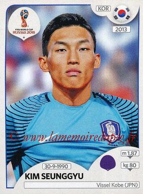 2018 - Panini FIFA World Cup Russia Stickers - N° 494 - Kim SEUNGGYU (Corée du Sud)