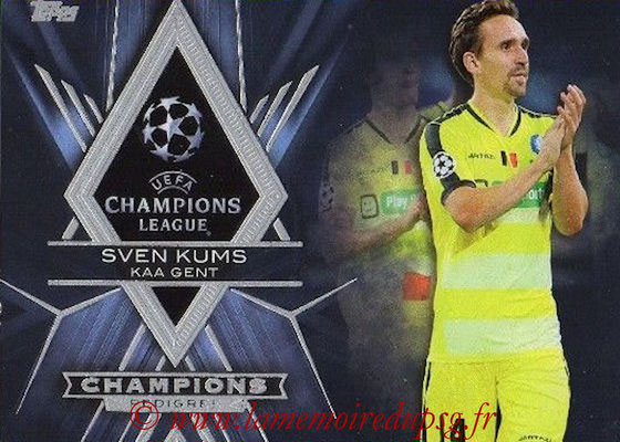 2015-16 - Topps UEFA Champions League Showcase Soccer - N° CP-SK - Sven KUMS (KAA Gent) (Champions Pedigree)