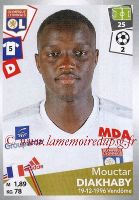 2017-18 - Panini Ligue 1 Stickers - N° 184 - Mouctar DIAKHABY (Lyon)