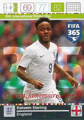 2015-16 - Panini Adrenalyn XL FIFA 365 - N° 354 - Raheem STERLING (Angleterre) (International Rising Star)