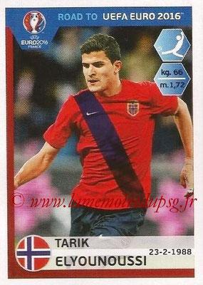 Panini Road to Euro 2016 Stickers - N° 190 - Tarik ELYOUNOUSSI (Norvège)