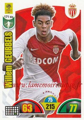 2018-19 - Panini Adrenalyn XL Ligue 1 - N° 171 bis - Willem GEUBBELS (Monaco)