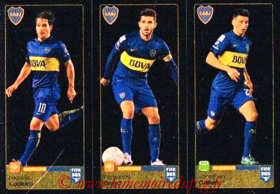 2015-16 - Panini FIFA 365 Stickers - N° 090-091-092 - Nicolas LODEIRO + Fernando GAGO + Jonathan CALLERI (CA Boca Juniors)