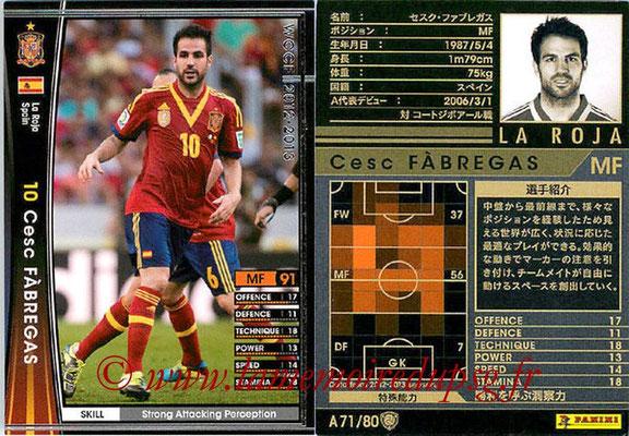2012-13 - WCCF - N° A71 - Cesc FABREGAS (Espagne)