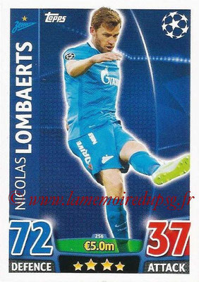 2015-16 - Topps UEFA Champions League Match Attax - N° 256 - Nicolas LOMBAERTS (FC Zenit)