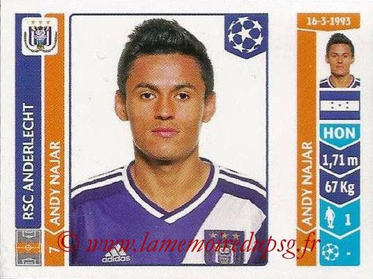 2014-15 - Panini Champions League N° 312 - Andy NAJAR (RSC Anderlecht)